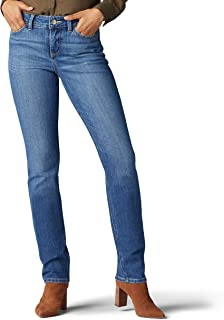 Lee Uniforms Women's Petite Secretly Shapes Regular Fit Straight Leg Jean