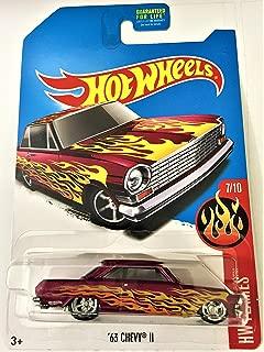 Hot Wheels 2017 Super Treasure Hunt '63 Chevy II HW Flames Series 7/10