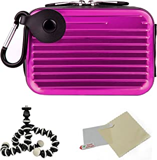 Purple Eva Durable Protective Cover Cube with Mesh Pocket for Nikon Coolpix L24 P300 S70 S80 S100 S1100pj S1200pj Point and Shoot Digital Camera