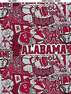 University of Alabama Graffiti Printed Cotton Fabric with POP Art-Newest Pattern-NCAA Cotton Fabric