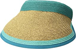San Diego Hat Company - UBV047 Visor with Contrast Color Stripe and Adjustable Back