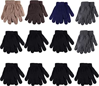 Gelante Adult Winter Knitted Magic Gloves Wholesale Lot 12 Pairs