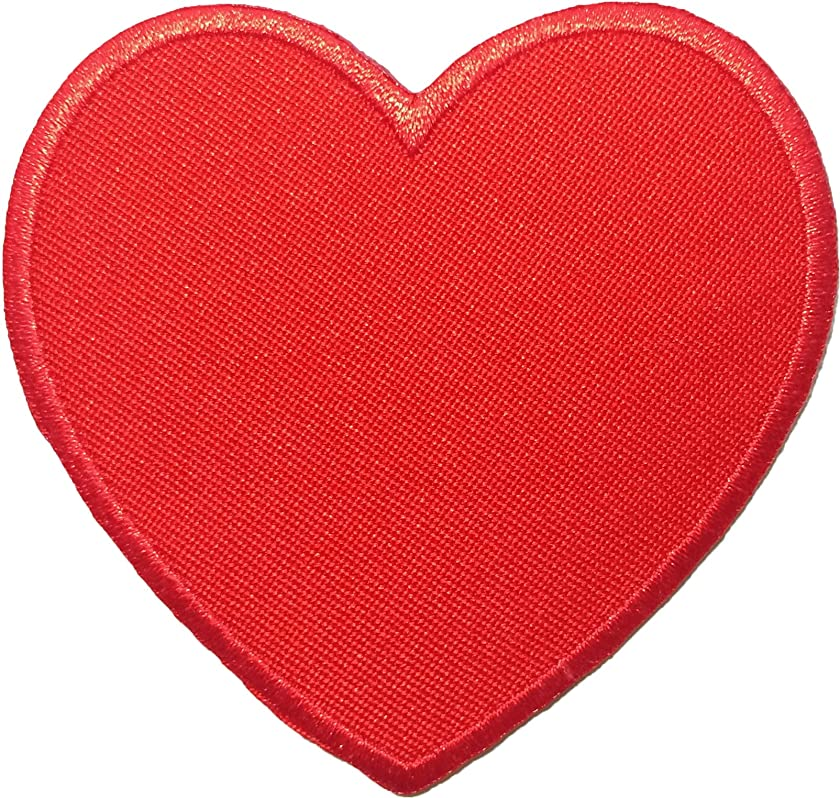 Heart Red Sew Iron on Embroidered Patches