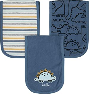 Gerber Baby Boys 3-Pack Terry Burp Cloth, Dinosaur Blue, One size