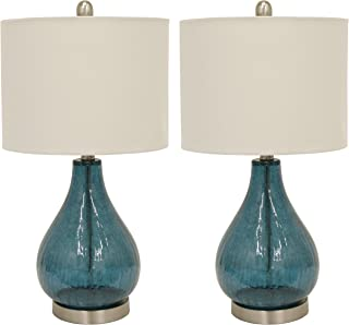 Décor Therapy MP1054 Table Lamp, Emerald Blue Green