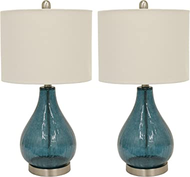 Decor Therapy MP1054 Table Lamp, Emerald Blue Green, 2 Count