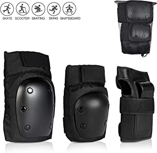 skybulls Kids Young Adult Skating Knee Pads Elbow Pads Wrist Guards [3 in 1], Premium Skateboard Pads Protective Gear Set for Skating, Inline Skating, Rollerblading, Cycling, Scooter and BMX Bike