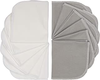 Kushies Baby Washcloths 12 Pack, Infant Washcloths, Ultra Soft Cloth Wipes, Bamboo Baby Washcloths in Grey/White, Baby Wash Cloth for Face & Body, Burp Cloths Unisex, Baby Muslin Washcloths Bulk Pack