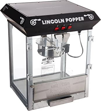Great Northern Popcorn Black Bar Style Lincoln 8 Ounce Antique Popcorn Machine (Bar Style)