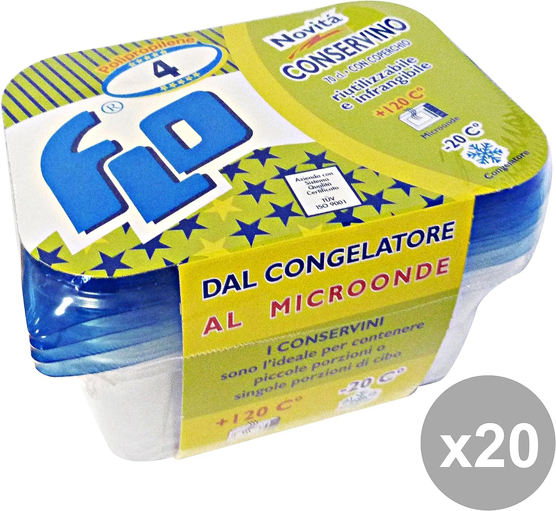 vendiendo bien en todo el mundo Juego de 20recipiente 20recipiente 20recipiente de plástico freezer-forno  4unidades Flo Recipientes para la cocina  muy popular