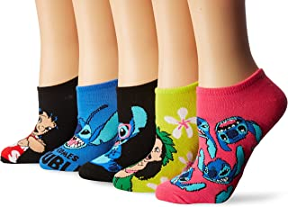 Women's Lilo & Stitch 5 Pack No Show Socks