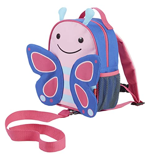 Skip Hop Toddler Leash and Harness Backpack, Zoo Collection, Butterfly