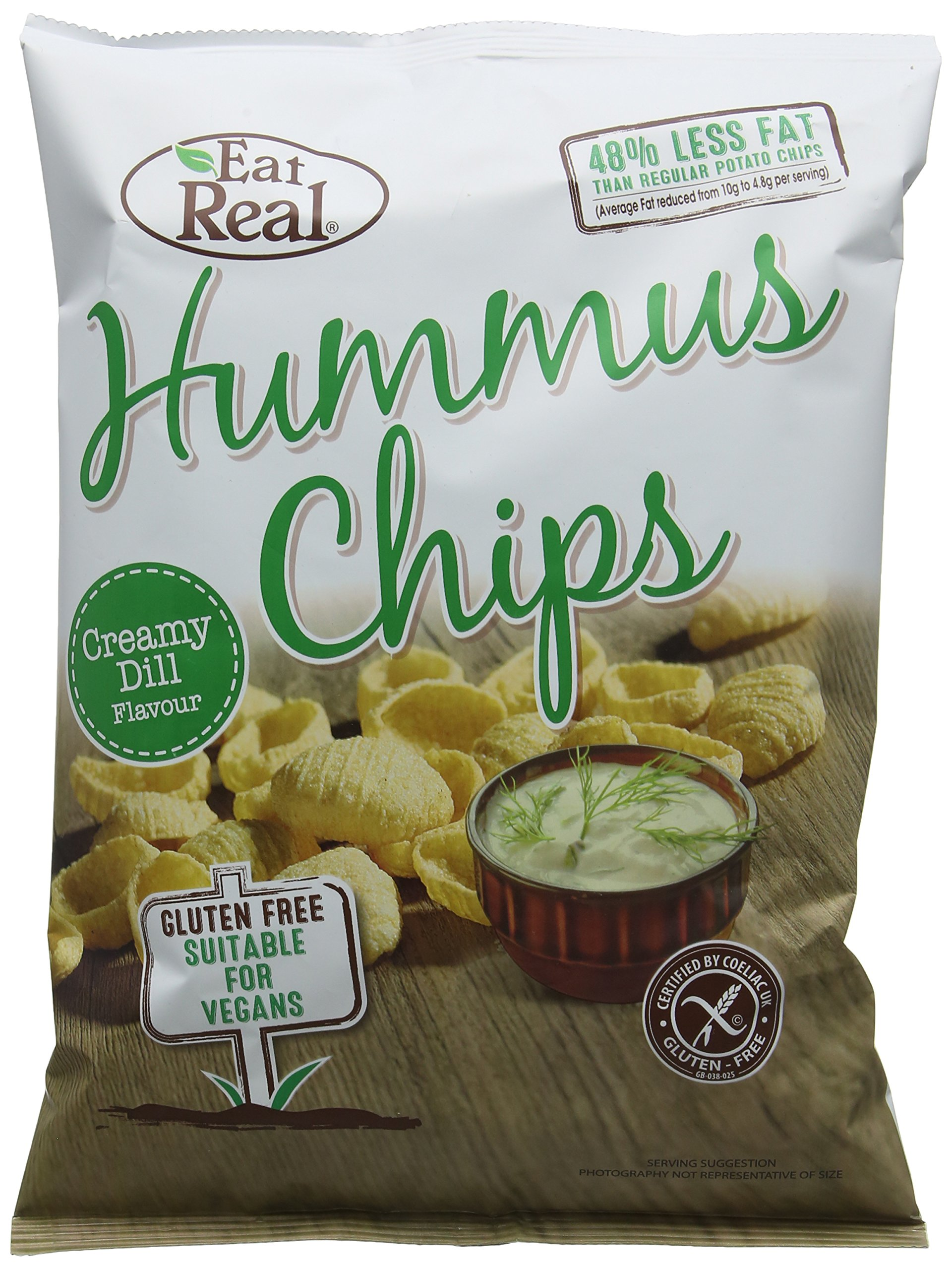 Eat Real Hummus Creamy Dill Chips, 135 g, Pack of 10