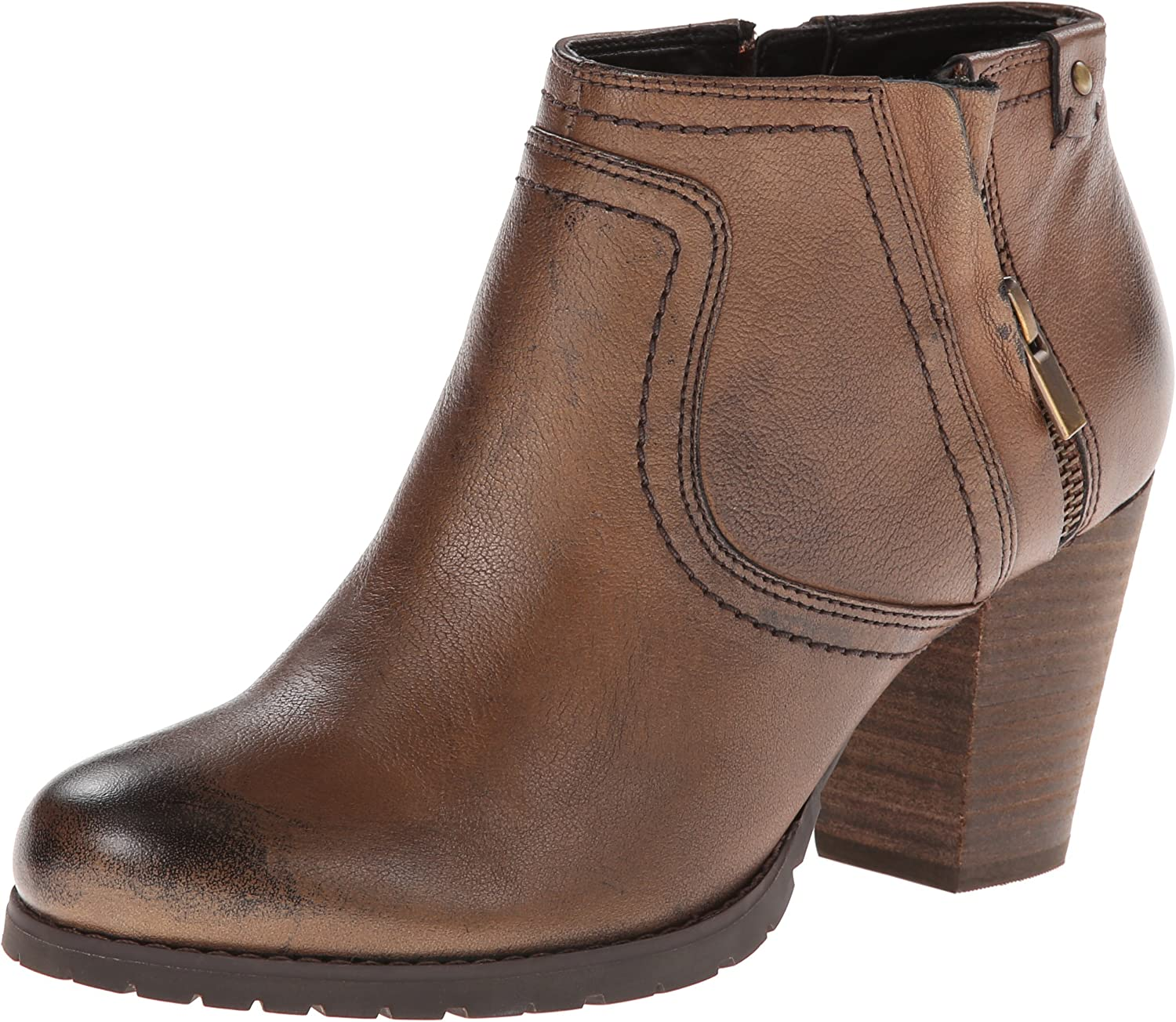 Clarks Women's Mission Halle Zipper Pull On Casual Boot