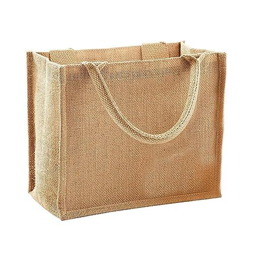a66c029ae3f Westford Mill Jute Mini Gift Bag (6 Litres)