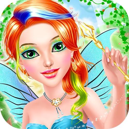 Princesa de hadas Maquillaje vestir : Spa, el maquillaje y el vestido encima del juego para las pequeñas princesas ! Juegos educativos para niñas