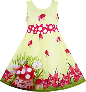 Sunny Fashion Girls Dress Rose Flower Print Butterfly Embroidery Purple Size 4-12 Years