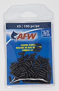 AFW American Fishing Wire Single Barrel Copper Crimp Sleeves Leader Size 5 100pc
