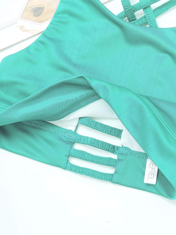 inhzoy Kids Big Girls Straps Crisscross Back Sports Bra Vest Top for Yoga//Gymnastics//Workout Activewear