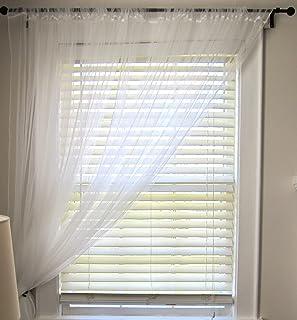 comprar comparacion IKEA Lill par largo flotante blanco para cortinas, 3 m de largo, puede recortarse al tamaño adecuado