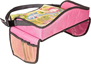 Childrens Travel Tray – Play Tray for Stress Free Car Bus Train and Plane Journeys – Small – Pink – By Driving With Kids – Works on Buggy and Pushchair