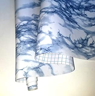 Zip Tac Marble Blue (Clouds) Contact Paper (9 Ft X 18in) #267