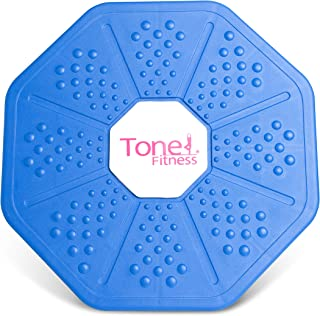 Tone Futness Balance Board and Fuel Pureformance Textured Medicine Ball 42 lb Set
