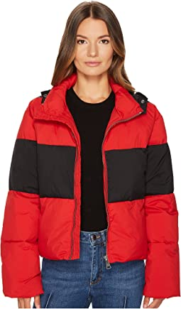 Nylon Down Puffer Coat