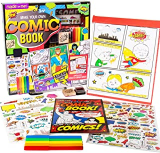 Made By Me Make Your Own Comic Book Storytelling Kit for Kids, 15-Page Hardcover Comic Book, How-to Draw Instructional Gui...