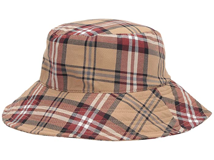 1960s – 70s Style Men's Hats San Diego Hat Company CTH8176 Plaid Bucket Camel Caps $32.47 AT vintagedancer.com