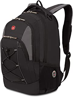 Swiss Gear Bungee Backpack, Black/Grey, One Size