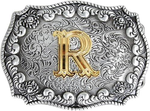 Bai You Mei Western Style Cowboy Alphabet Initial Letter Large Belt Buckles For Men