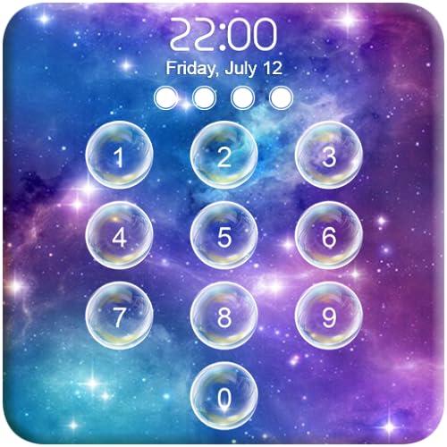 Galaxy Bubbles Lock Screen S9