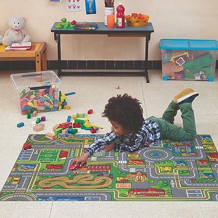 Carpet Studio Tappeto Bambini 95x133cm, Tappeto per Bambini per Cameretta & Stanza dei Giochi Ragazzi e Ragazze, Lavabile in Lavatrice, Facile da Pulire, Antiscivolo - Playcity
