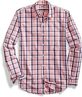 Goodthreads Mens MGT250002FL18 Standard-fit Poplin Plaid Shirt Long Sleeve Button Down Shirt