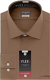 Men's Dress Shirt Regular Fit Flex Collar Solid