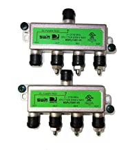 DirecTV SWM Approved 4-Way Wide Band Splitter (2-Pack)