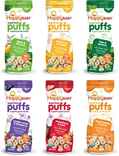 Happy Baby Organic Superfood Puffs Variety Pack, 2.1 Ounce