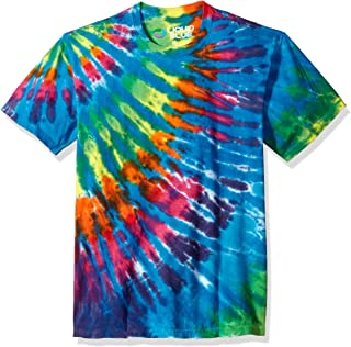 Liquid Blue Unisex-Adult 11101 Rainbow Blue Streak Tie Dye Short Sleeve T-Shirt Short Sleeve T-Shirt - Multi