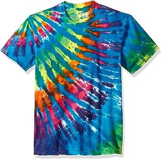Rainbow Blue Streak Tie Dye Short Sleeve T-Shirt