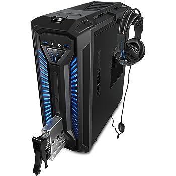 MEDION X30 RGB - Ordenador de sobremesa gaming (Intel Core i5-9400, 16GB RAM, 1TB HDD + 256GB SSD, Nvidia GTX1050Ti-4GB, Windows 10) Negro