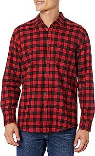 [Amazon Essentials] レギュラーフィット 長袖 フランネルシャツ メンズ