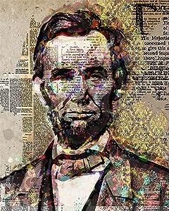Abraham Lincoln - Wall Decor Art Print - 8x10 unframed artwork printed on photograph paper