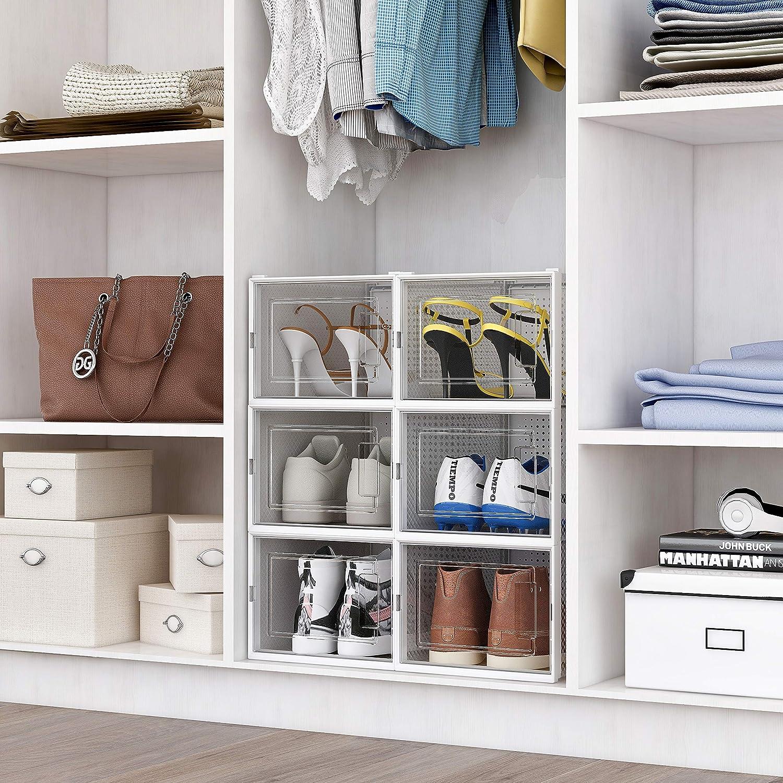 Buy Crestlive Products 20 Pack Shoe Storage Box, Plastic Foldable ...