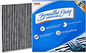 Spearhead Premium Breathe Easy Cabin Filter, Up to 25% Longer Life w/Activated Carbon (BE-671)