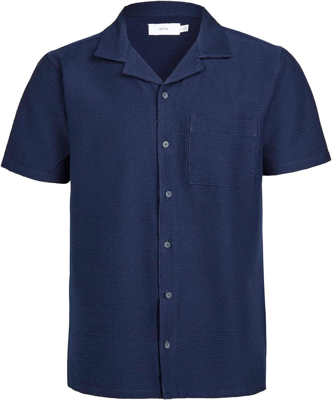 Onia Men's Seersucker Camp Shirt Surprise price Cheap bargain
