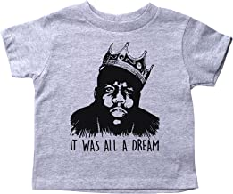 Biggie Smalls Inspired Crew Neck Toddler Tee/IT was All A Dream/Notorious Big