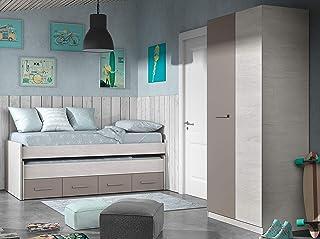 comprar comparacion Miroytengo Pack Muebles Dormitorio Juvenil Color Unisex Cama Nido y Armario somieres incluidos
