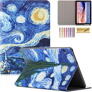 Slim Case for Huawei MediaPad T5 10 10.1 Inch Case, Dteck PU Leather Flip Folio Stand Cover Protective Tablet Case Soft TP...