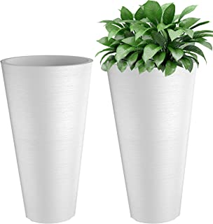Verel Set of 2 Tall Outdoor Planters - 24 Inch
